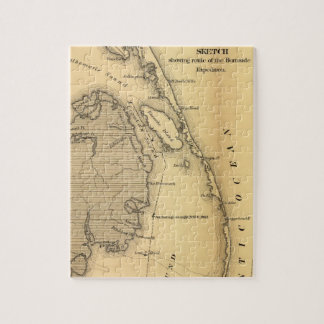Vintage Map of The Outer Banks (1862) Puzzles