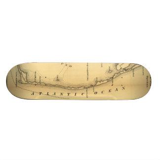 Vintage Map of The Outer Banks (1862) Skateboard Deck