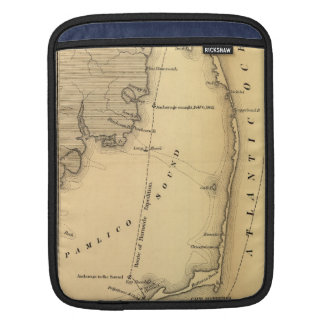 Vintage Map of The Outer Banks (1862) Sleeve For iPads