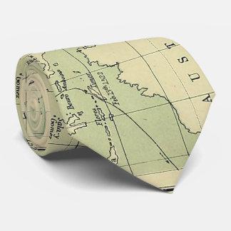 Vintage Map of The Pacific Ocean (1874) Tie