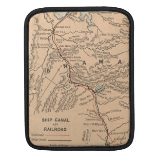 Vintage Map of The Panama Canal (1885) Sleeve For iPads