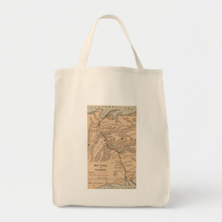 Vintage Map of The Panama Canal (1885) Tote Bag