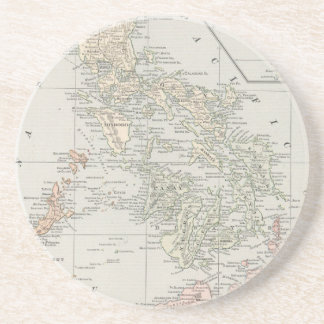 Vintage Map of The Philippine Islands (1901) Drink Coaster
