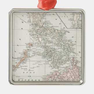 Vintage Map of The Philippine Islands (1901) Metal Ornament