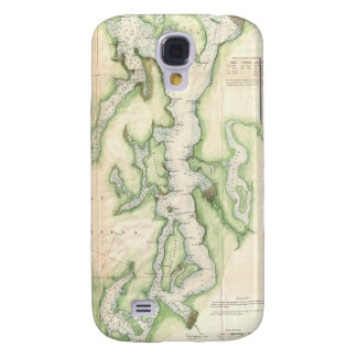 Vintage Map of The Puget Sound (1867) Samsung Galaxy S4 Case