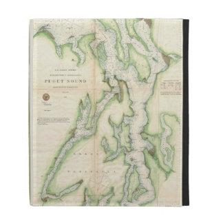 Vintage Map of The Puget Sound (1867) iPad Folio Case