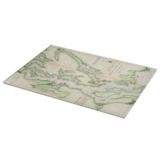 Vintage Map of The Puget Sound (1867) Cutting Boards