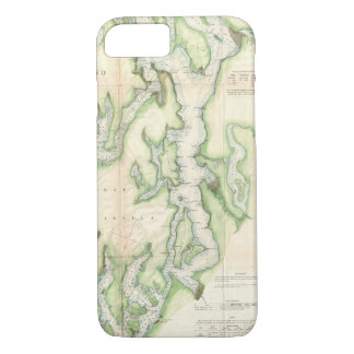 Vintage Map of The Puget Sound (1867) iPhone 7 Case