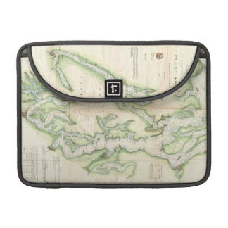Vintage Map of The Puget Sound (1867) Sleeve For MacBooks