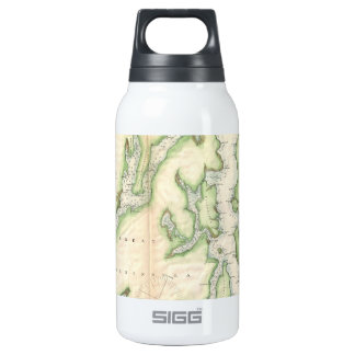 Vintage Map of The Puget Sound (1867) 10 Oz Insulated SIGG Thermos Water Bottle