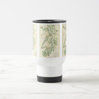 Vintage Map of The Puget Sound (1867) Travel Mug