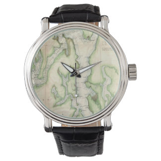 Vintage Map of The Puget Sound (1867) Watch