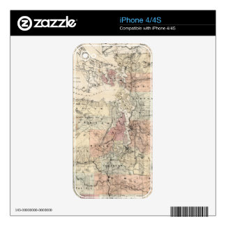 Vintage Map of The Puget Sound (1891) iPhone 4 Skins