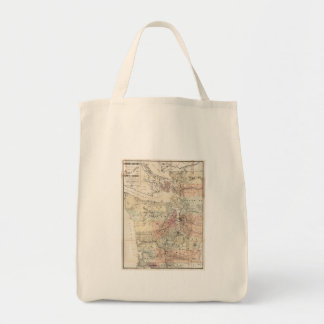 Vintage Map of The Puget Sound (1891) Tote Bag