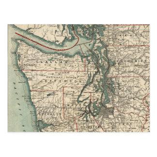 Vintage Map of The Puget Sound (1910) Postcard