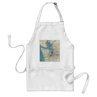 Vintage Map of The Puget Sound (1919) Adult Apron