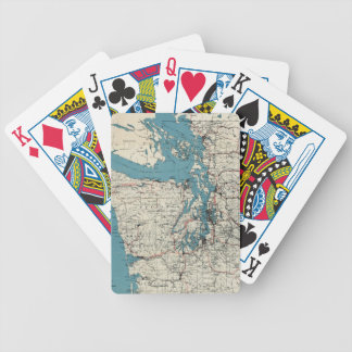 Vintage Map of The Puget Sound (1919) Bicycle Playing Cards
