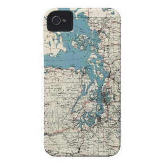 Vintage Map of The Puget Sound (1919) Case-Mate iPhone 4 Case