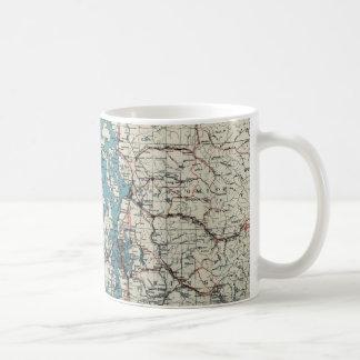 Vintage Map of The Puget Sound (1919) Coffee Mug