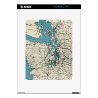 Vintage Map of The Puget Sound (1919) Decal For iPad