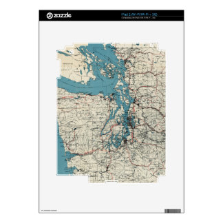 Vintage Map of The Puget Sound (1919) iPad 2 Decal