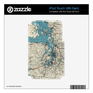 Vintage Map of The Puget Sound (1919) iPod Touch 4G Decal
