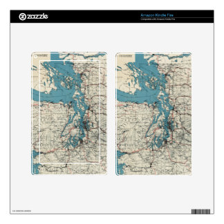 Vintage Map of The Puget Sound (1919) Kindle Fire Decals