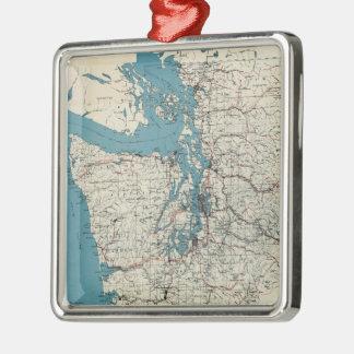 Vintage Map of The Puget Sound (1919) Metal Ornament