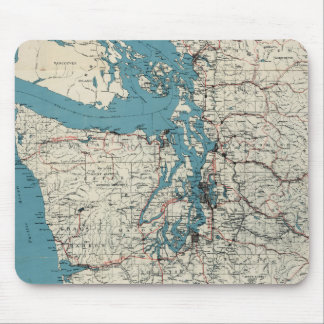 Vintage Map of The Puget Sound (1919) Mouse Pad