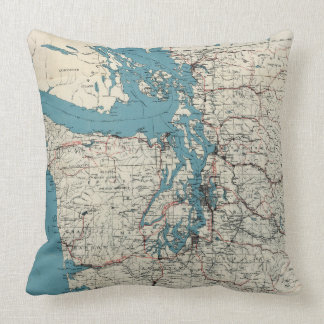 Vintage Map of The Puget Sound (1919) Pillow