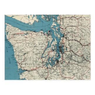 Vintage Map of The Puget Sound (1919) Postcard