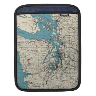 Vintage Map of The Puget Sound (1919) Sleeve For iPads
