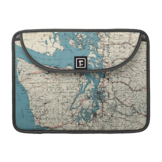 Vintage Map of The Puget Sound (1919) Sleeve For MacBook Pro