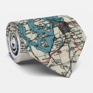 Vintage Map of The Puget Sound (1919) Tie