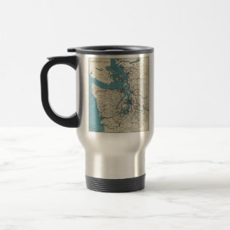 Vintage Map of The Puget Sound (1919) Travel Mug