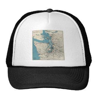 Vintage Map of The Puget Sound (1919) Trucker Hat