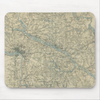 Vintage Map of The Richmond Virginia Area (1864) Mouse Pad