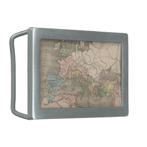 Vintage Map of The Roman Empire (1838) Belt Buckle