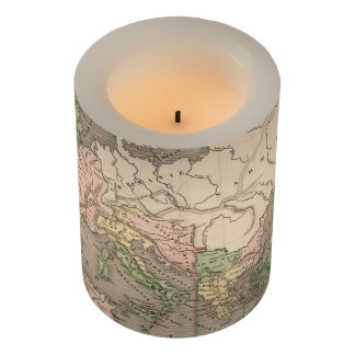Vintage Map of The Roman Empire (1838) Flameless Candle
