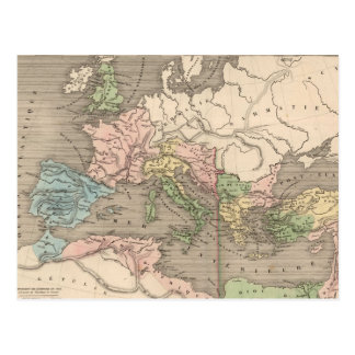 Vintage Map of The Roman Empire (1838) Postcard