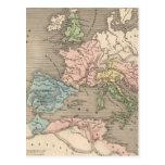 Vintage Map of The Roman Empire (1838) Postcard