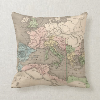 Vintage Map of The Roman Empire (1838) Throw Pillow