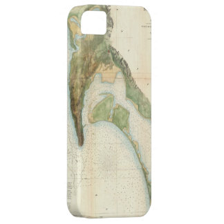 Vintage Map of The San Diego Bay (1857) iPhone 5 Covers