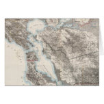 Vintage Map of The San Francisco Bay (1873) Greeting Card
