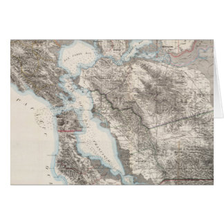 Vintage Map of The San Francisco Bay (1873) Card