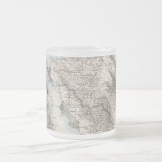 Vintage Map of The San Francisco Bay (1873) Frosted Glass Coffee Mug