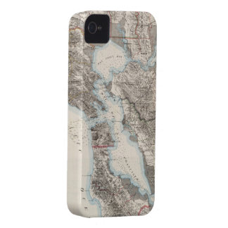 Vintage Map of The San Francisco Bay (1873) iPhone 4 Case-Mate Cases