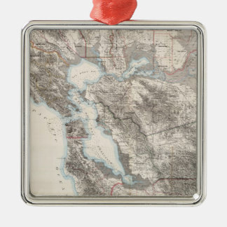 Vintage Map of The San Francisco Bay (1873) Metal Ornament