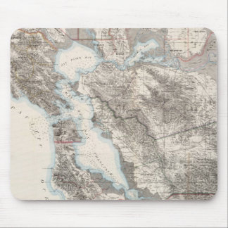 Vintage Map of The San Francisco Bay (1873) Mouse Pad