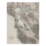 Vintage Map of The San Francisco Bay (1873) Poster
